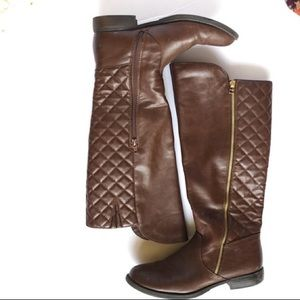Mossimo Brown Quilted Riding Boots!!